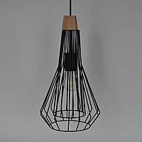 Люстра стиль Лофт металлическая черная 1 лампа