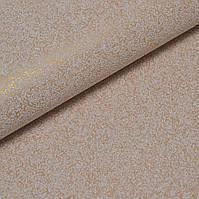 Обои для стен однотонные вінілові на паперовій основі без подбора золотистые 0,53*15м, ограниченное количество