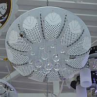 Люстра хрустальная 6 ламп зеркальная хромовая основа