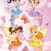 Наклейка, интерьерная, принцесы, Label №38