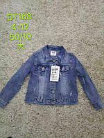 Джинсова куртка-піджак для дівчаток S&D 4-12 років