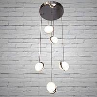 Люстра подвесная светодиодная в скандинавском стиле Нордик, 6653/5Y-G, ЗОЛОТО!