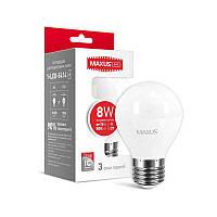 Лампа светодиодная лампа Maxus 8W 220V E27, яркий свет