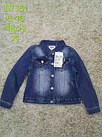 Джинсова куртка-піджак для дівчаток S&D 6-16лет