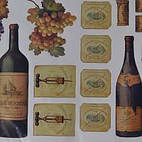 Наклейка,  бутылки, декупаж, интерьерная Декор  №35