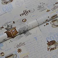 Обои для стен винил на бумажной основе супер мойка латте кофе голубой 0,53*10м, фото 1