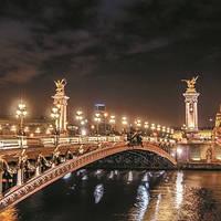 Фотообои, ночной город, мегаполис,   ПРЕСТИЖ №3 196смХ136