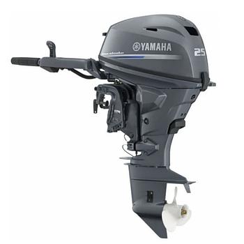 Лодочный мотор Yamaha F25 GMHS - подвесной четырехтактный мотор для яхт и рыбацких лодок 4-5 м