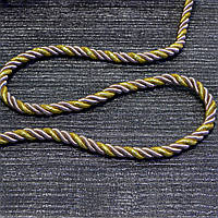 Шнур декоративный для натяжных потолков пудрове золото 14 мм