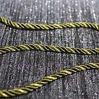 Шнур декоративный для натяжных потолков, болотное золото, 10 мм