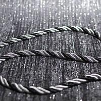 Шнур декоративный для натяжных потолков, серо-черный, 10 мм