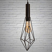 Люстра подвесная стиль лофт черная металлическая 1 лампа