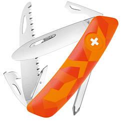 Нож складной, мультитул Swiza J06 (95мм, 12 функций), оранжевый KNI.0061.2071