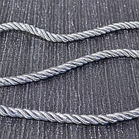 Шнур декоративный для натяжных потолков, серое серебро, 14 мм
