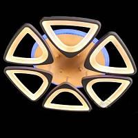 Люстра светодиодная с диммером и разноцветной подсветкой БЕЛАЯ 3 color