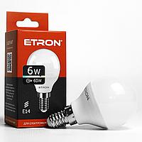 Світлодіодна лампа LED лампа ETRON Light Power 1-ELP-047 G45 6W 3000K 220V E14
