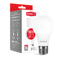 Лампа светодиодная лампа Maxus 10W 220V E27, яркий свет