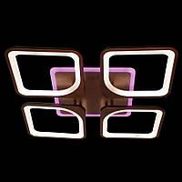 Люстра светодиодная с диммером и разноцветной подсветкой коричневый 3 color