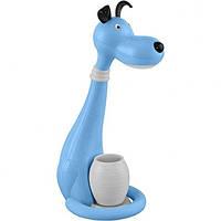 Лампа настольная светодиодная + ночник пес синий