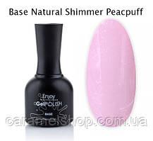 Базове покриття камуфлюється база для нігтів ШІМЕР Base Cover Natural Shimmer Peachpuff Enjoy 10 ml.