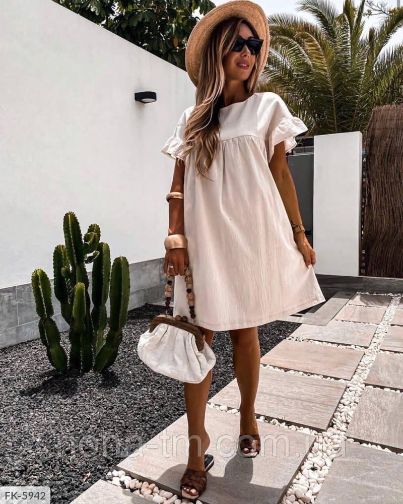 Жіноче літнє плаття з льону