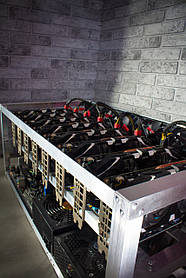 Майнинг ферма, риг на 5 видеокарт (130MH/s) Nvidia GTX 1070 8GB