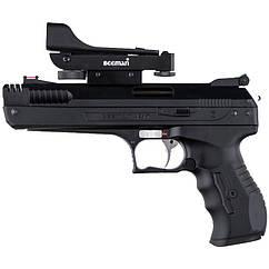 Пистолет пневматический Beeman P17 (4,5мм),  коллиматорный прицел