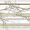 Панель ПВХ стеновая декоративная пластиковая, Ветка оливковая, 95.7 Х 48см
