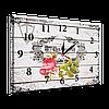 Годинник-картина під склом троянда 30*40