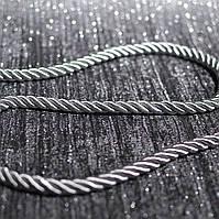 Шнур декоративный для натяжных потолков, однотонный серый, 10 мм