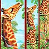Фотообои, детские дитячі Ростомер Жирафа, 2 листа, размер 150х15