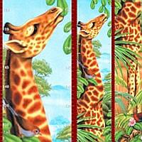 Фотообои, детские дитячі Ростомер Жирафа, 2 листа, размер 150х15, фото 1