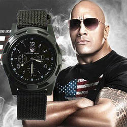 Спортивные часы Gemius Army Черные наручные NEW Мужские Брендовые годинник на руку Кварцевые СПОРТ
