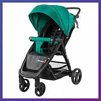 Детская прогулочная коляска - книжка с регулируемой спинкой CARRELLO Maestro CRL-1414 Golf Green зеленая