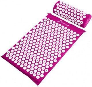 Массажный акупунктурный коврик с подушкой   Массажер для спины и ног OSPORT   Аппликатор Кузнецова ФИОЛЕТОВЫЙ