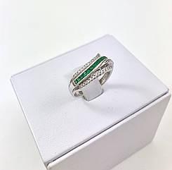 Кольцо золотое с изумрудом и бриллиантом K2461Е_E01