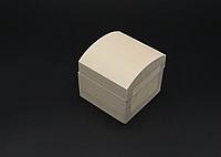 Шкатулка квадратная заготовка из дерева Куфр без фурнитуры не полностью шлифован 55х55x55 мм