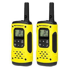 Рация Motorola Talkabout T92 H2O (0,5W, PMR446, 446 MHz, до 10 км, 16 каналов, АКБ), желтая