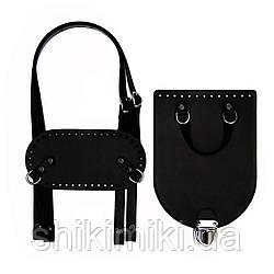 Рюкзачный комплект Amore S з натуральної шкіри, колір чорний