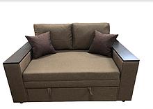Небольшой двухместный компактный маленький диван-кровать КУБУС 140 мини-диваны 2 местные Бежевый