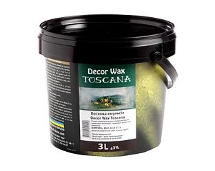 Decor Wax Toscana - защитный воск матовый для декоративных покрытий 3л