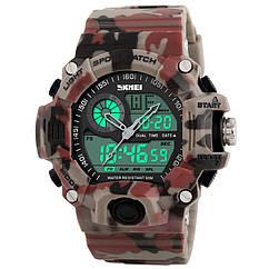 Часы электронные, тактические Skmei 1029, красный камуфляж, в металлическом боксе