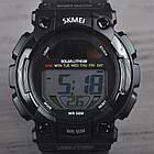 Часы электронные, спортивные Skmei 1126, черные, с солнечной панелью, в металлическом боксе, фото 3