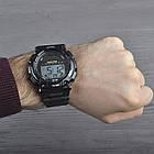Часы электронные, спортивные Skmei 1126, черные, с солнечной панелью, в металлическом боксе, фото 7