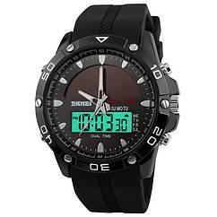 Часы спортивные Skmei 1064, черные, с солнечной панелью, в металлическом боксе