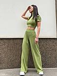 Костюм женский рубчик: топ с короткими рукавами и широкие штаны (в расцветках), фото 7