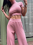 Костюм женский рубчик: топ с короткими рукавами и широкие штаны (в расцветках), фото 10