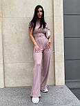 Костюм женский рубчик: топ с короткими рукавами и широкие штаны (в расцветках), фото 9
