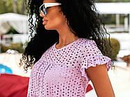 Молодёжное очаровательное воздушное платье А-силуэта из батиста и прошвы 42, 44, 46, фото 3