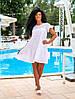 Молодёжное очаровательное воздушное платье А-силуэта из батиста и прошвы 42, 44, 46, фото 6